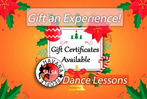 gift card christmas salsa cardiff dance lessons private, group classes, wales
